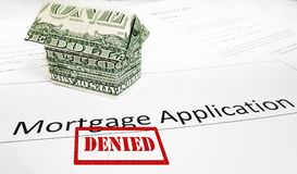 Denied mortgage app Royalty Free Stock Photo