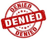 denied red stamp Στοκ Εικόνες
