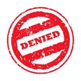 denied red stamp Στοκ Φωτογραφία