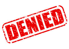 Denied red stamp text Stock Photo