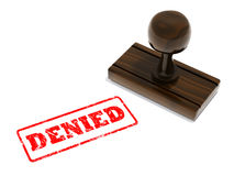 Denied rubber stamp. Denied wooden ruuber stamp illustration Royalty Free Stock Photography