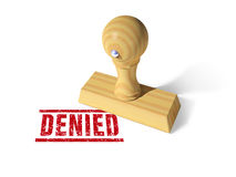 Denied rubber stamp Royalty Free Stock Photos