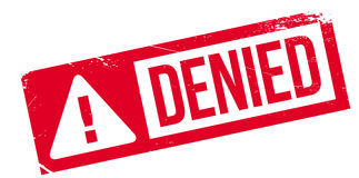 Denied rubber stamp Stock Photo
