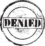 Denied skamp. Abstract grunge rubber stamp with the text denied Royalty Free Stock Photography