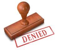 Denied stamp. 3D illustration of Denied stamp Stock Images