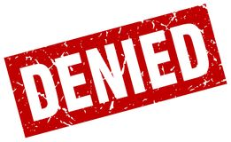 Denied stamp. Denied grunge vintage stamp isolated on white background. denied. sign stock illustration