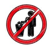 Denied To deposit garbage sign Royalty Free Stock Image