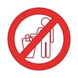 Denied To deposit garbage sign Stock Photos