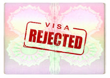 Denied Visa on Passport Royalty Free Stock Images