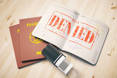 Denied visa Stock Illustration