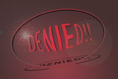 Denied royalty free stock images