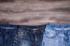 denim голубые джинсы предпосылки славные стоковые фото