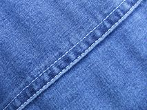 Denim. Material with diagonal seam royalty free stock photography