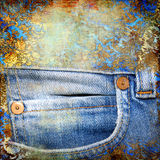 Denim abstraction royalty free stock photo