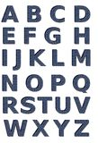 Denim-Alphabet-Set Stockbild