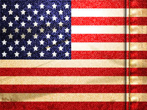 Denim american flag Royalty Free Stock Photos