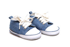 Denim Baby Shoes Royalty Free Stock Image