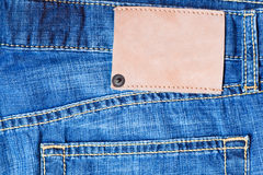 Denim background with label Royalty Free Stock Photo