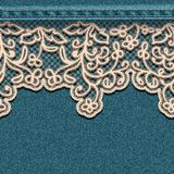 Denim background with lace. Stock Image