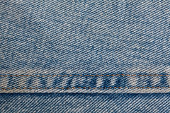 Denim Background with Seam Stock Image