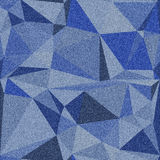 Denim background with seamless polygonal pattern. Various shades of blue. Stock Photography