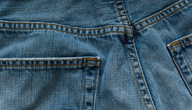 Denim blue jeans Royalty Free Stock Photo