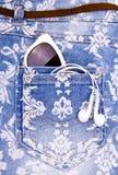 Denim blue jeans shorts Stock Photo
