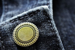 Denim Button Stock Photography