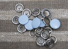 Denim buttons - accessories stock photo