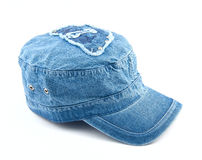 Denim cap Royalty Free Stock Images