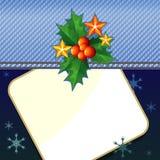 Denim Christmas card Stock Photo