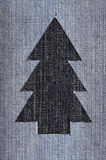 Denim Christmas Tree. Christmas tree cut out of denim Royalty Free Stock Photography