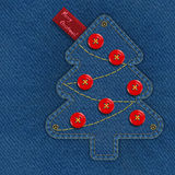 Denim Christmas tree Royalty Free Stock Photo