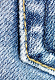 Denim close up. Close up shot of a pocket on a pair of denim jeans Stock Images