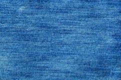 Denim cloth. Close-up of denim cloth Royalty Free Stock Photos