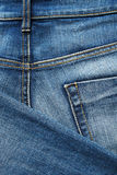 Denim cloth close-up Stock Image