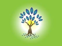 Denim cloth creative herbal tree logo background Royalty Free Stock Images