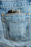 Denim de Hipflask Images stock