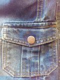 Denim de poche Photographie stock