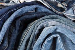 denim De textuur van jeans De achtergrond van jeans stock fotografie