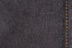 Denim detail. Cotton jeans detail - denim fabric Stock Image