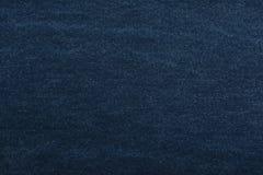 Denim di struttura Tessuto denso tessile Fondo Tessuto naturale blu scuro Fotografia Stock Libera da Diritti