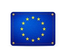 Denim EU flag. On a white background Royalty Free Stock Images