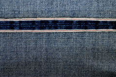 Denim fabric inside seam Stock Images