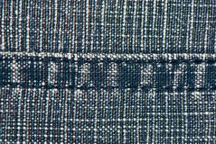 Denim fabric with a seam Stock Photo