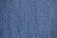 Denim fabric texture. Distressed blue denim fabric texture royalty free stock photos