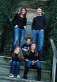 Denim Family Portrait Stock Photo
