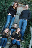 Denim Family Portrait Stock Photography