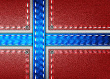 Denim flag of Norway. Flag of Norway in denim patchwork style Royalty Free Stock Photos
