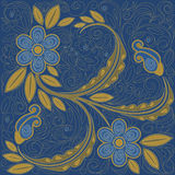 Denim floral background Royalty Free Stock Image